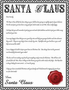 letter from santa printable editable new calendar With a letter from santa