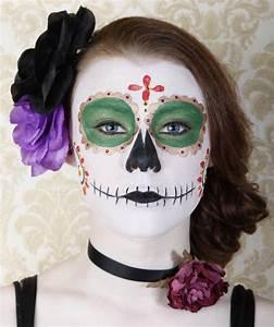 Maquillage Squelette Facile : maquillage halloween femme squelette mexicain simple ~ Dode.kayakingforconservation.com Idées de Décoration