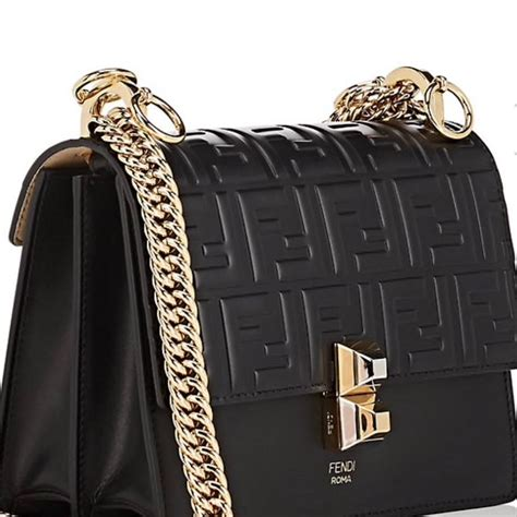 Fendi Shoulder Bag Kan I Small Black Leather Satchel - Tradesy