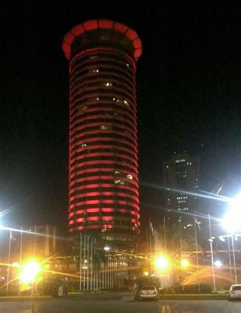 uap tower kicc lights  nairobi  christmas