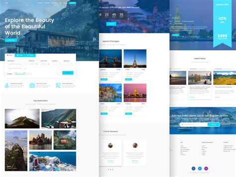 tournest travel agency responsive html website template
