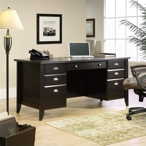 Shoal Creek Desk In Jamocha Wood by Executive Desk In Jamocha Wood 408920