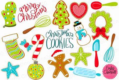 Cookie Christmas Clip Clipart Creative Market Template