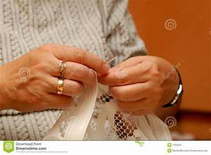 Sewing Hands Stock Image - Image: 1350541