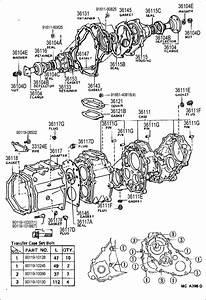 Toyota 4runner Retainer  Transfer Output Shaft Front