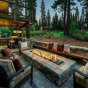 34, Simple, And, Cheap, Fire, Pit, And, Backyard, Landscaping, Ideas
