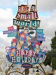 It S a Small World Disneyland Sign