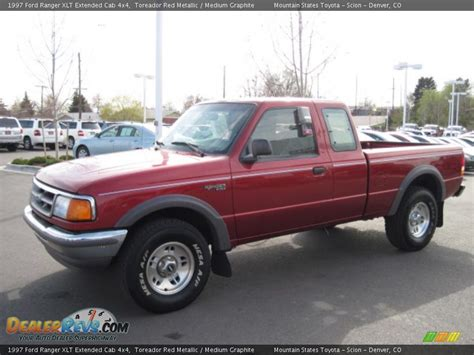1997 ford ranger xlt extended cab 4x4 toreador metallic medium graphite photo 5