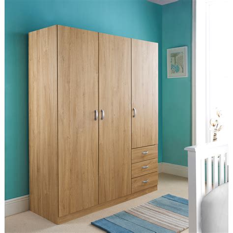 3 Door Wardrobe by B M Copenhagen 3 Door 3 Drawer Wardrobe 283837 B M