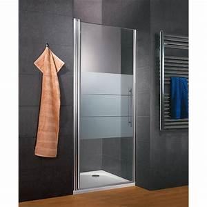 Porte de douche pivotante en niche style 20 traitement for Enlever calcaire porte douche