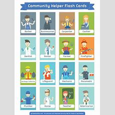 Printable Community Helper Flash Cards