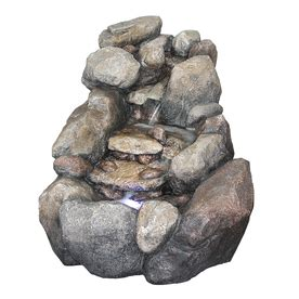 river rock lowes shop garden treasures river rock fountain at lowes com