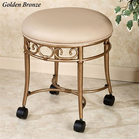vanity chair with casters mcclare vanity stool