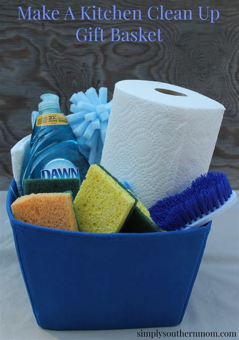 kitchen gift ideas a kitchen cleaning gift basket with