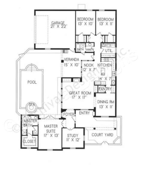small luxury home floor plans roseta courtyard house plans small luxury house plans