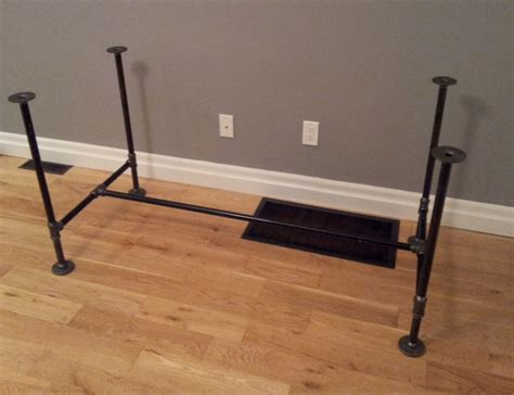 iron pipe desk plans diy pipe wood table pt 1 storefront life