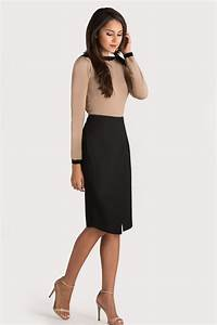 Black + tan business casual outfit for work | skirttheceiling | Corporate World | Pinterest ...