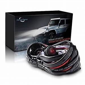 Led Light Bar Wiring Harness  Fuse 40a Relay On