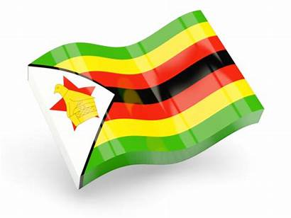 Zimbabwe Flag Icon 3d Graphics Glossy Wave
