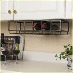 Kitchen Under Cabinet Wine Rack
