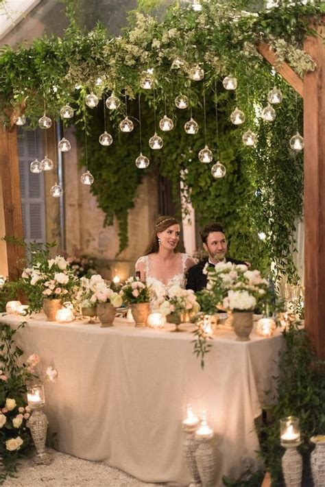 fancy wedding decoration ideas  hanging candles