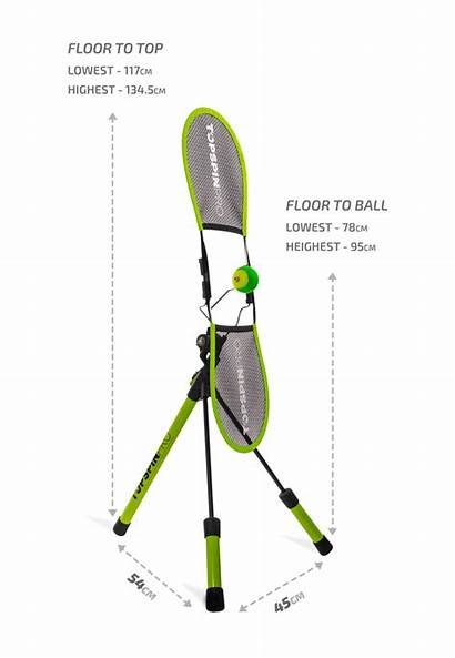 Tennis Ball Topspin Players Adjustable Sizes Floor