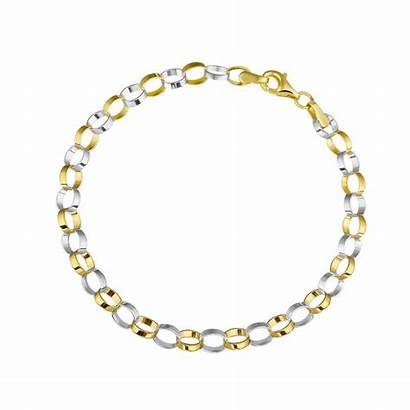 Bicolor Armband Geschakeld Gouden Juweliers Mostert