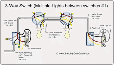 wiring   switch  multiple lights electrical