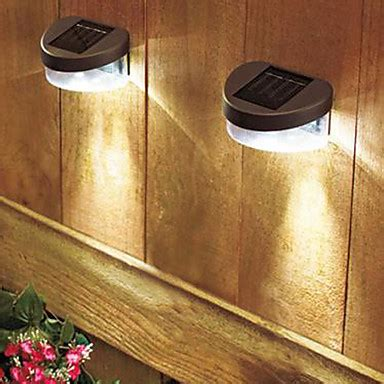 solar white light deck and fence wall mount l 2 pack