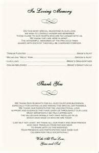 Wedding Program Thank You Wording