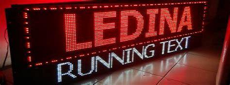 ledina running text page    jual running text