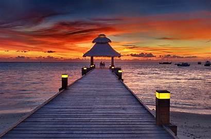 Ocean Indian Maldives Cruises Sunset Sunsets Visit