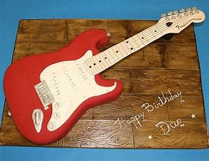 17 awsome guitar cake templates designs free for Guitar templates for cakes