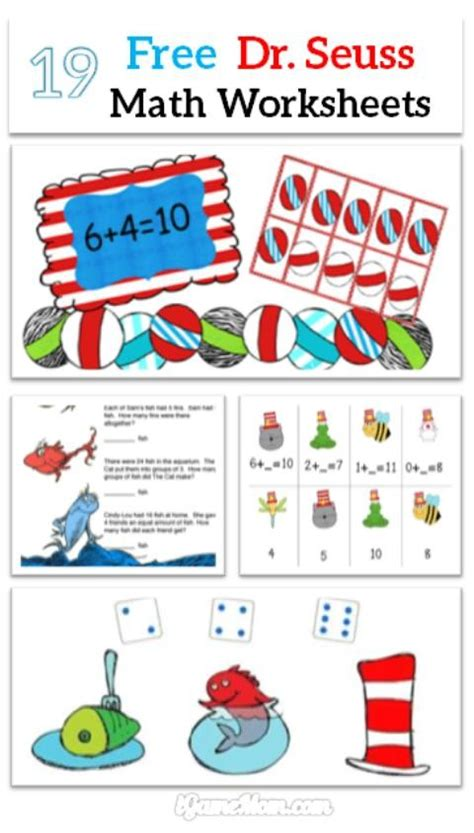 dr seuss math printable worksheets  kids