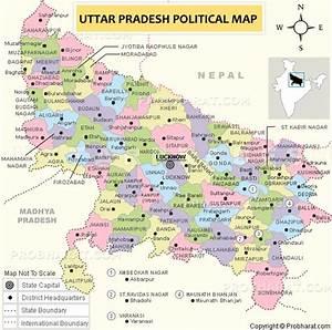 Uttar Pradesh Map..Map of Uttar Pradesh (U.P ...
