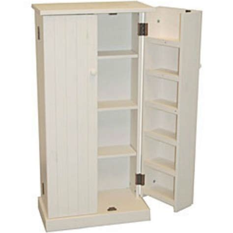 Kitchen Storage Cupboards by Kitchen Pantry Cabinet Free Standing White Wood Utility