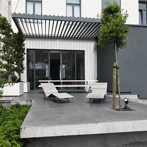Terrassendach renson algarve verschliessbares lamellendach for Terrassenüberdachung algarve preis
