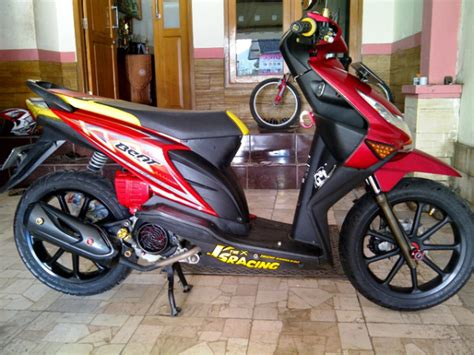 Modif Motor Mio Lama Merah by Modifikasi Honda Beat Warna Merah Berbagai Gaya