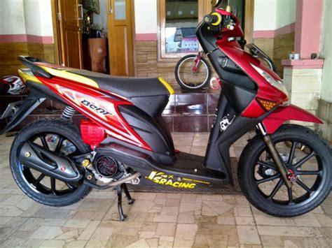 Modifikasi Warna Motor Beat by Modifikasi Honda Beat Warna Merah Berbagai Gaya
