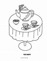Tea Party Coloring Pages Boston Drawing Template Sketch Rosh Getdrawings Coloring2print sketch template