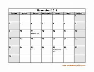 fillable calendar template 2014 - 7 best images of november 2014 calendar with holidays