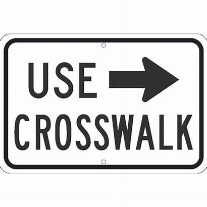 Crosswalk Arrow Sign Larger