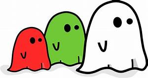 Ghosts - Free Halloween Vector Clipart Illustration