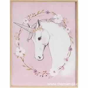 Cadre Chambre Fille : cadre licorne chambre fille d co le blog de maman plume ~ Nature-et-papiers.com Idées de Décoration