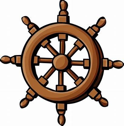 Wheel Captain Ship Steering Clipart Pirate Clip