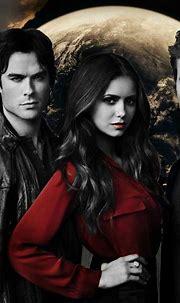 The Vampire Diaries Trio. Elena Gilbert, Damon Salvatore ...