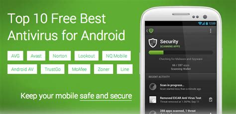 top five antivirus apps for android techarena top 10 free best antivirus for android device applications