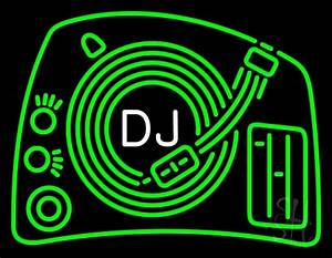Dj 2 Neon Sign Music Neon Signs