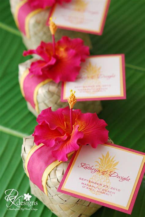 love  hibuscus flower wedding favor hawaii wedding