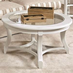 american drew lynn haven 416 913 round glass cocktail With round glass coffee table with shelf